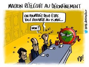 Macron réfléchit au déconfinement