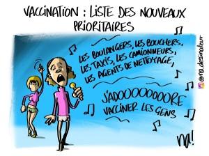 Vaccination, liste des nouveaux prioritaires