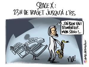Space X, 23h de trajet jusqu'à l'ISS