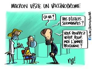Macron visite un vaccinodrome
