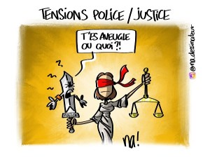 Tensions police – justice