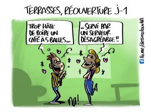 Terrasses, réouverture J-1