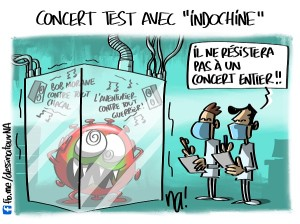 Concert test avec «Indochine»