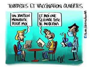 Terrasses et vaccination ouvertes