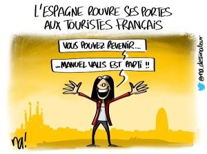 L'Espagne rouvre ses portes aux touristes français