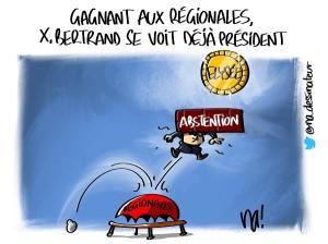 Gagnant aux régionales, X. Bertrand se voit déjà président