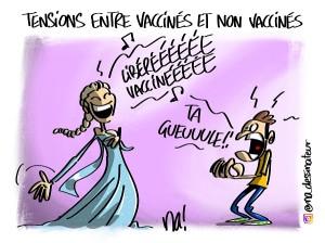 Tensions entre vaccinés et non vaccinés