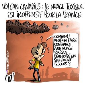 Volcan Canaries, le nuage toxique est inoffensif pour la France