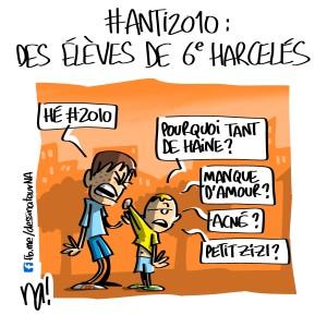 #anti2010, des élèves de 6ème harcelés