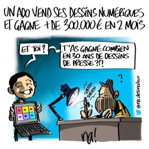 un ado vend ses dessins numériques et gagne plus de 300000 euros en 2 mois