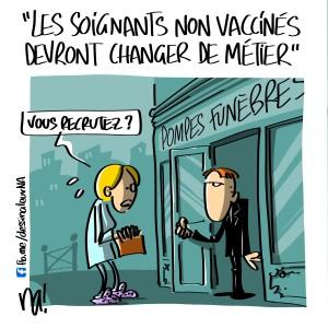 «les soignants non vaccinés devront changer de métier»
