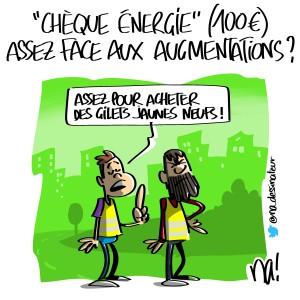 «chèque énergie» (100€) assez face aux augmentations ?