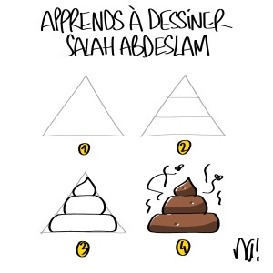 Apprendre à dessiner Salah Abdeslam