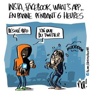 instagram, facebook, whatsapp en panne pendant 6 heures